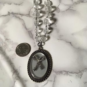 Cute bow cameo necklace